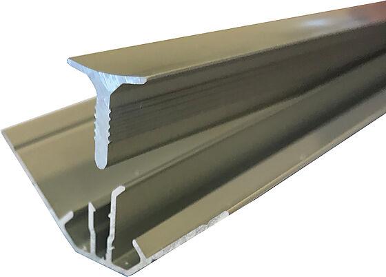 Hjørnelist II innvendig aluminium to-delt 2400 mm