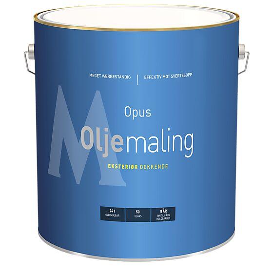Oljemaling 50 eksteriør base hvit 9 liter