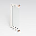 Toppsving vindu U12 80x100 cm hvit