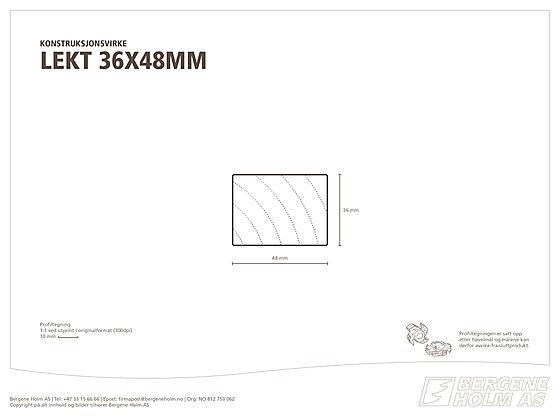 Lekt gra/furu kl 1 36x048 mm