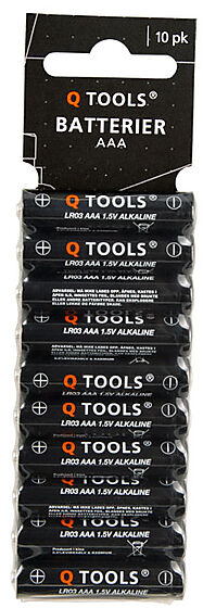 Q-tools batterier aaa pakke á 10 stk