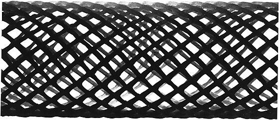 Lufterør netlon svart 32x4000 mm