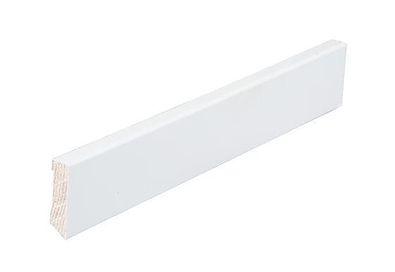 Taklist furu profilert hvit NCS0502Y 12x045x4400 mm