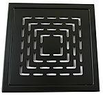 Slukrist sort matt klassisk 20x20 cm