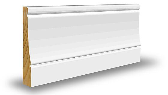 Kombilist profilert 15x70x4400 mm hvitmalt furu NCS S0502Y