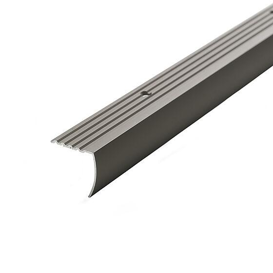 Trappenese nr. 10 29x29 sølv eloksert 1,5 meter borret m/skruer