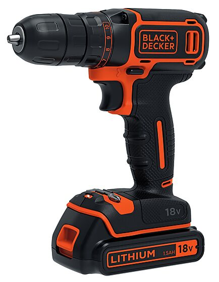 Drill BDCDC18-QW 18V inkl. 200ma lader + batteri