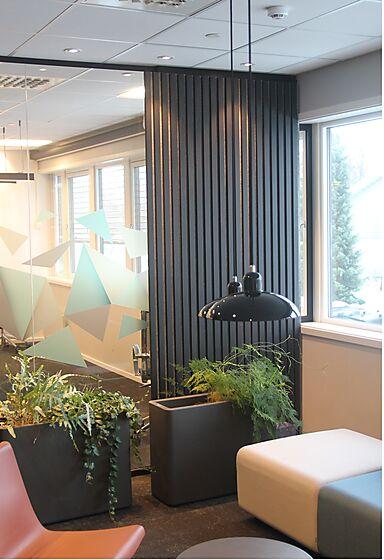 Spilevegg furu eco panel svart lakk  40x600x2400 mm