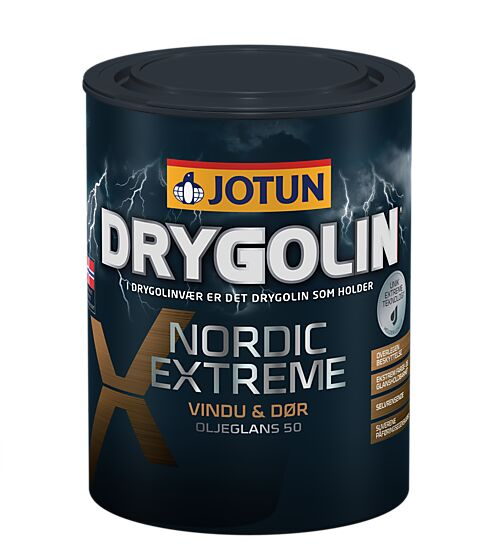 Drygolin nor maling vindu dør hvit base 0,68 liter