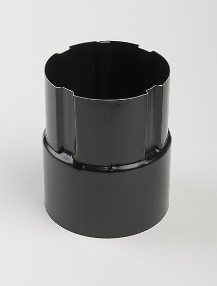 Nedløpsrørskjøt stål Ø75 mm sort