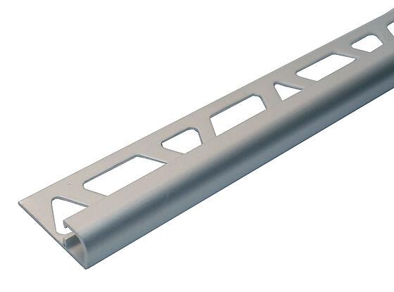 Hjørnelist anodisert aluminium 10 mm sølv