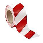 Sperrebånd Super rød/hvit 75 m x 100 m