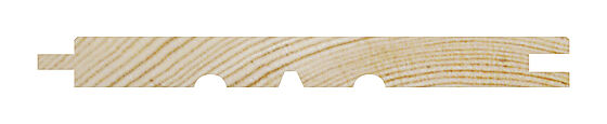 Glattpanel 13x120 mm ubehandlet furu