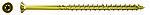 Konstruksjonsskrue 10,0x160 fpf-st 10,0x160 gul senkehode a50