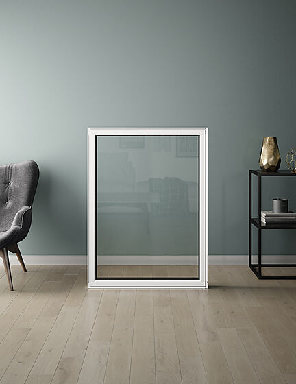 Fastkarm vindu U12 100x120 cm hvit