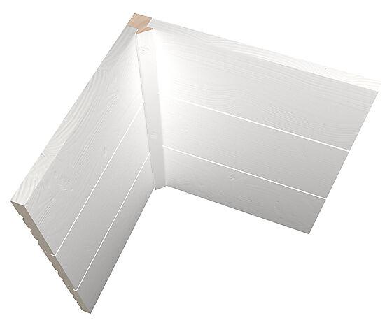 Hjørstelist f/panelvegg M43 GK2400 27x30 mm ubehandlet furu