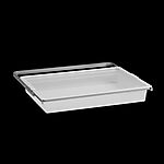 Uttrekkbar boks 605x88x436 mm transparent/platinum