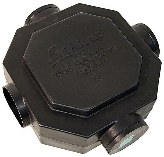 Radonbrønn easi sump sort 380x380x124 mm