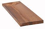 Kledning rektangulær brun 16x98 mm royalimpregnert furu