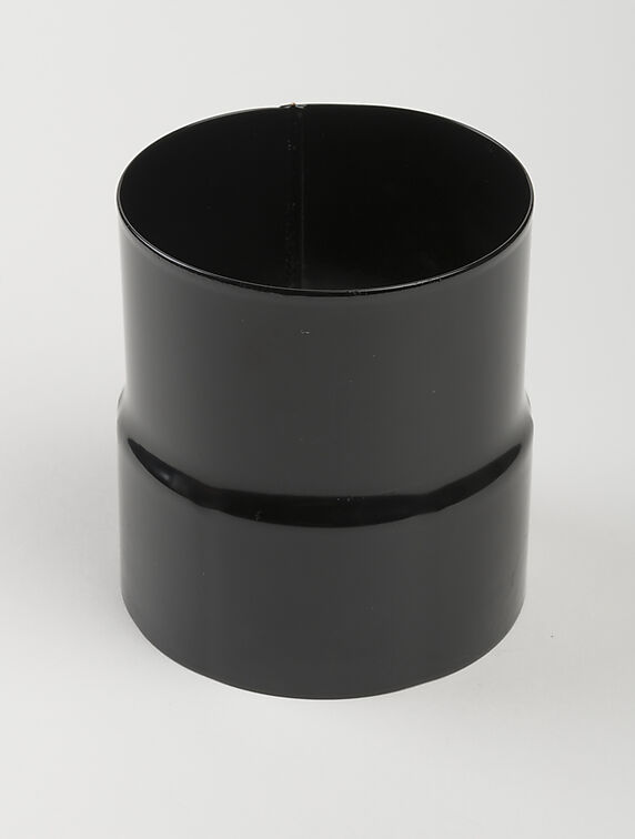 nedløpsrørskjøt stål 90mm sort