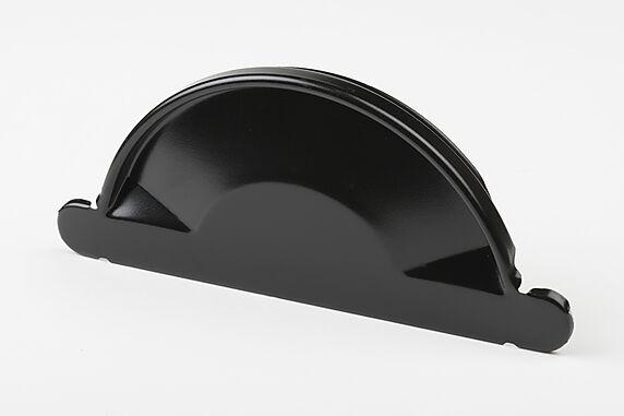 endestykke stål 150mm sort