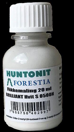 Huntonit reparasjonsmaling klassisk hvit 20 ml