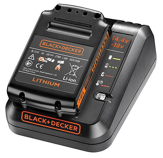 Black+Decker hurtiglader + 1,5Ah batteri BDC1A15