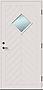 Ytterdør Marka Ekstrem 90x210 cm venstrehengslet m/glass hvitmalt