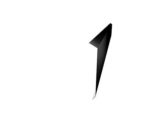 takfot l-tak stål 170mm sort