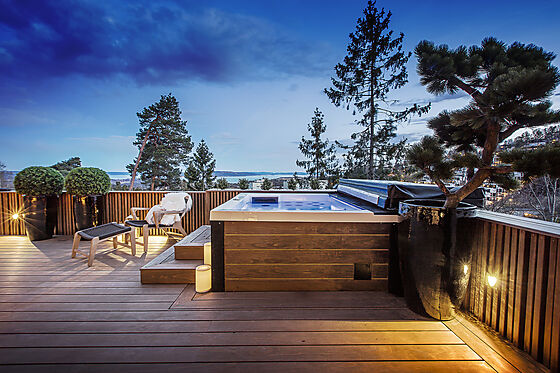 Kebony Clear terrassebord glatt m/spor 22x142 mm