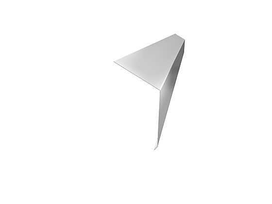 Takfotbeslag silver 120 mm 2 m