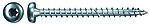 Treskrue innvendig pan-hode 4,0x25 mm FPF-PT elforzinket 200 stk