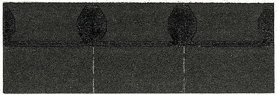 Takfot/møneplate sort isola
