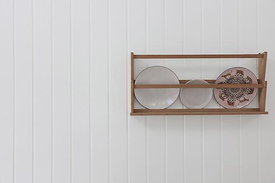 Veggplate trefiber skygge skrå hvit 11x620x2390 mm