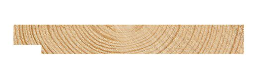 E-falspanel 19x148 mm egghvit Drygolin mellomstrøk visir gran