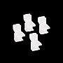 Klips for hylle transparant 14x23x26 mm pakke à 4 stk