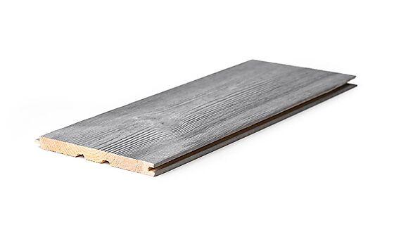 Panel 13x145 mm børstet stengrå furu