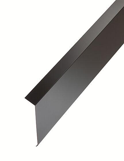 Takfot hardcoat sort stål 2,0 m