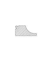 Vannstokk m/ pølse og profil 45x95 mm impregnert furu