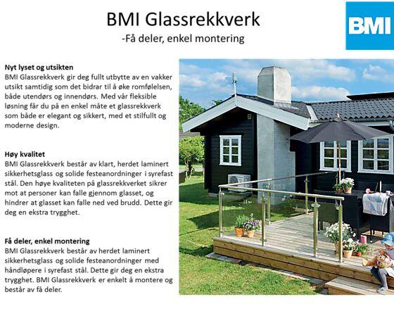 Treskruer A2 til Icopal Glassrekkverk 8x80 mm