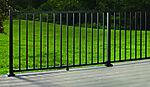 Signature pakke med rekkverk aluminium sort 106x182 cm