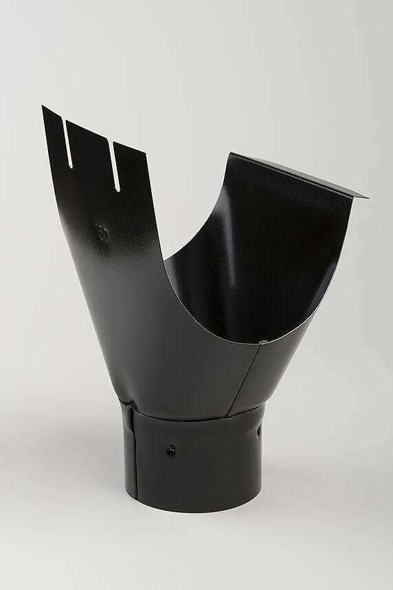 tappestykke stål 150/90mm sort