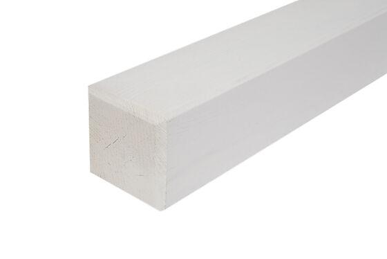Stolpe 90 mm 160 cm hvitmalt