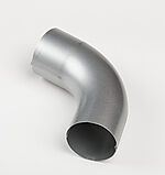 Bend silver 75 mm