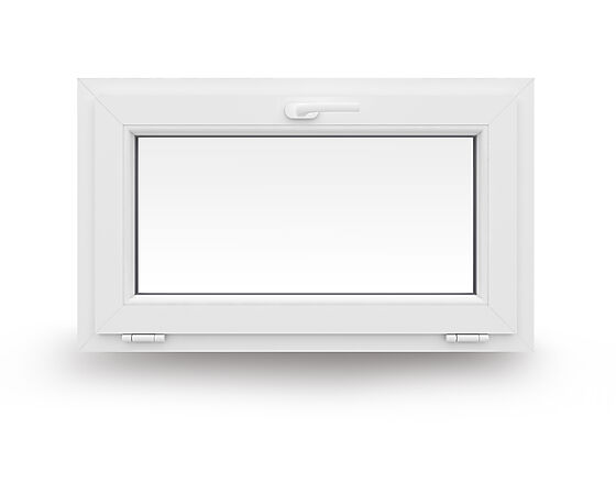 Vindu bunnhengslet 1090x590 mm 2-lags glass hvit Arcade