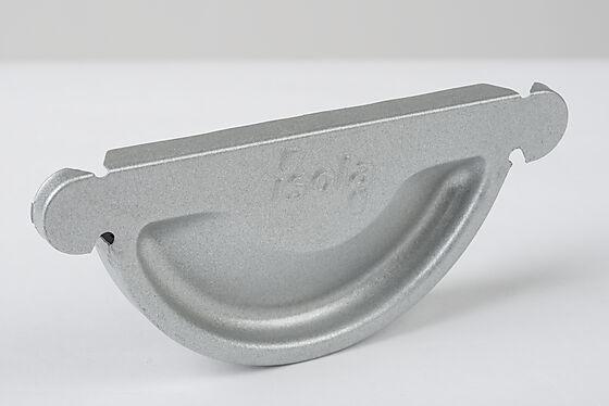 Endestykke silver 125 mm