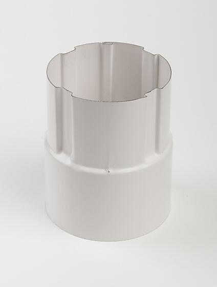 Nedløpsrørskjøte stål 75 mm hvit