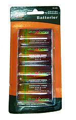 Q-tools batterier lr20 4 pak