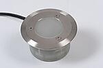 Hagelys led Innfellingsspot frostet 2 rustfrie stålringer, 12V