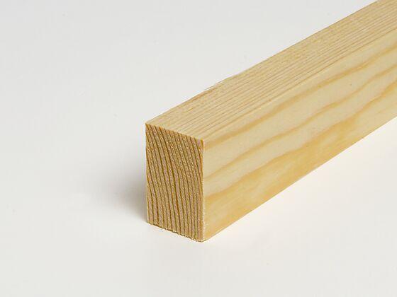 Glattkantlist 15x15 mm ubehandlet furu